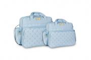 Conjunto de Bolsa e Frasqueira Urso Rei - Azul Bebe
