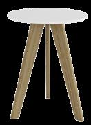 Mesa Retro - Carvalho com Branco - Móveis Peroba