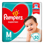 Pampers Super Sec M - 30 Fraldas