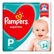 Pampers Super Sec P - 34 Fraldas