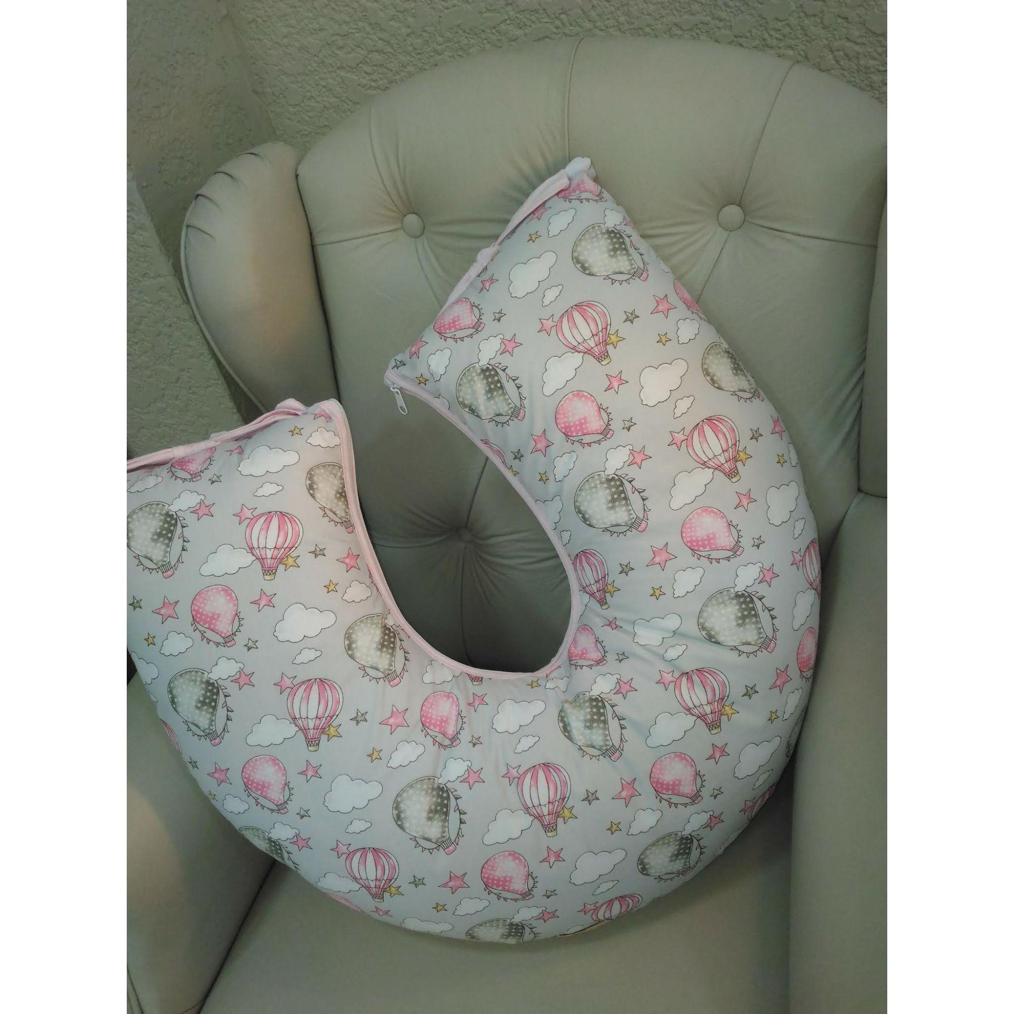 Almofada de Amamentar Rosa Balãozinho