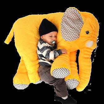 Almofada Elefante Amarela G