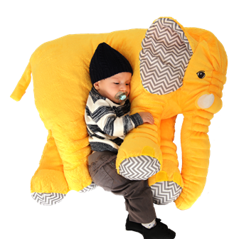 Almofada Elefante Cinza G