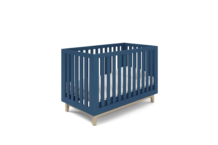 Berço Smart Baby - Pé Artesanal - Azul