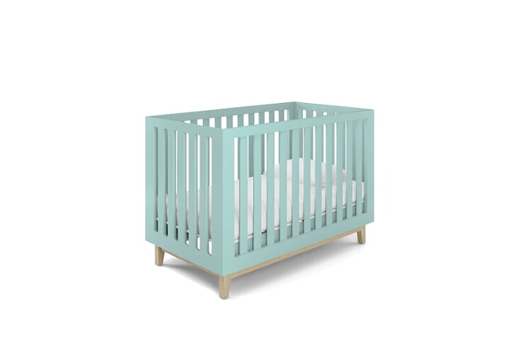 Berço Smart Baby - Pé Artesanal - Verde