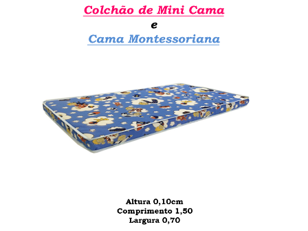 Colchão de Mini Cama - 150 X 0,70 D-23