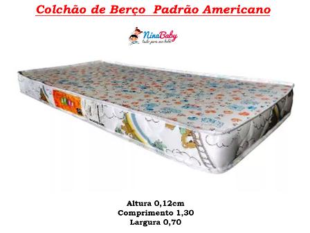 Colchão Padrão Americano - 12cm
