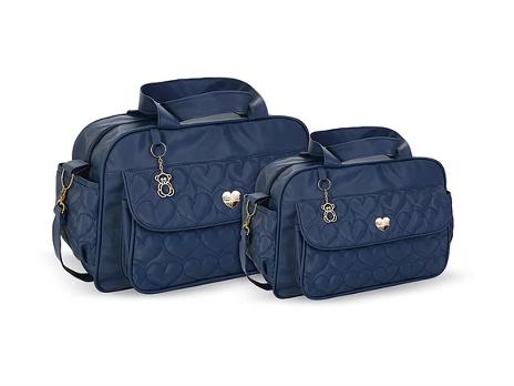 Conjunto Bolsa e Frasqueira Amour - Azul Marinho