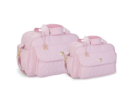 Conjunto Bolsa e Frasqueira Amour - Rosa