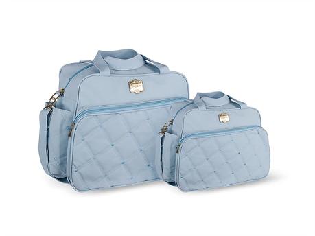 Conjunto Bolsa e Frasqueira Classic - Azul Céu