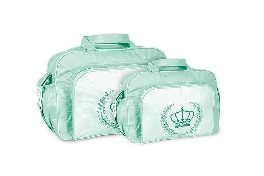 Conjunto Bolsa e Frasqueira Coroa - Verde