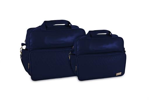Conjunto Bolsa e Frasqueira Luxo - Azul Marinho