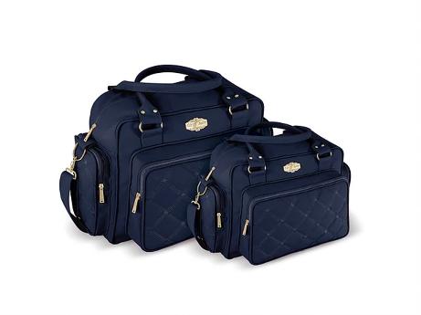 Conjunto Bolsa e Frasqueira Modern - Azul Marinho