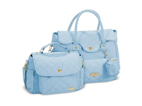 Conjunto Bolsa e Frasqueira Persona - Azul Bebe