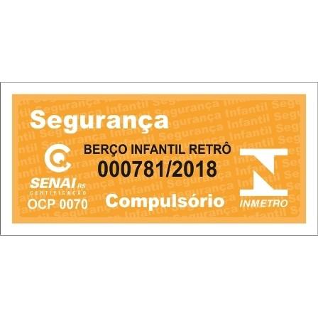 Conjunto Cômoda Retrô Porta Lisa com Berço Retrô - Branco com Cinza Peroba Móveis
