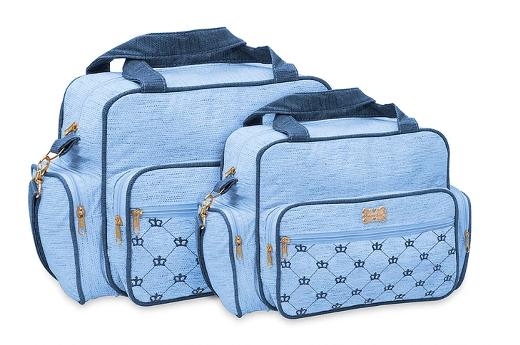 Conjunto de Bolsa e Frasqueira Baby - Azul Bebe
