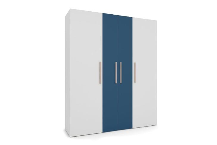 Guarda Roupa Luna - 4 portas Azul