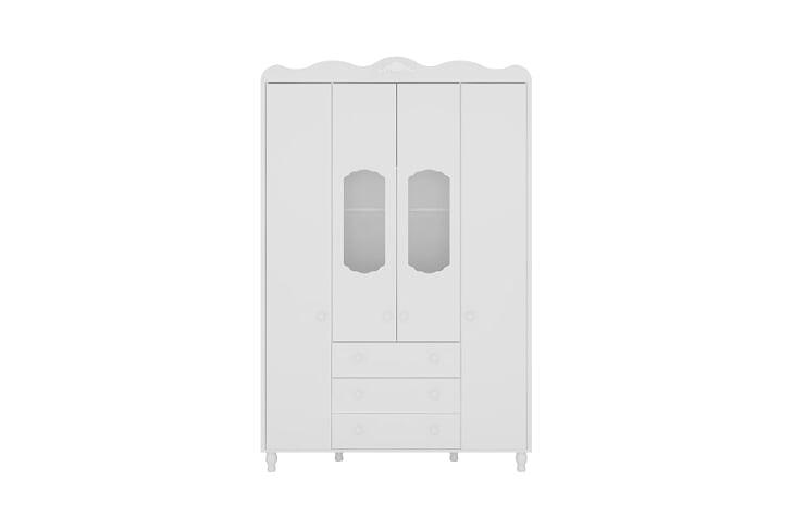 Guarda Roupa Sonhare - 4 portas Branco