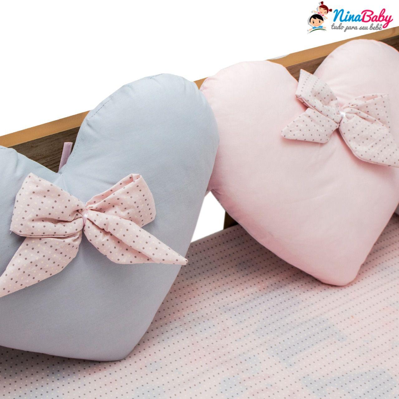 Kit de Berço  -  Almofadas de Coração