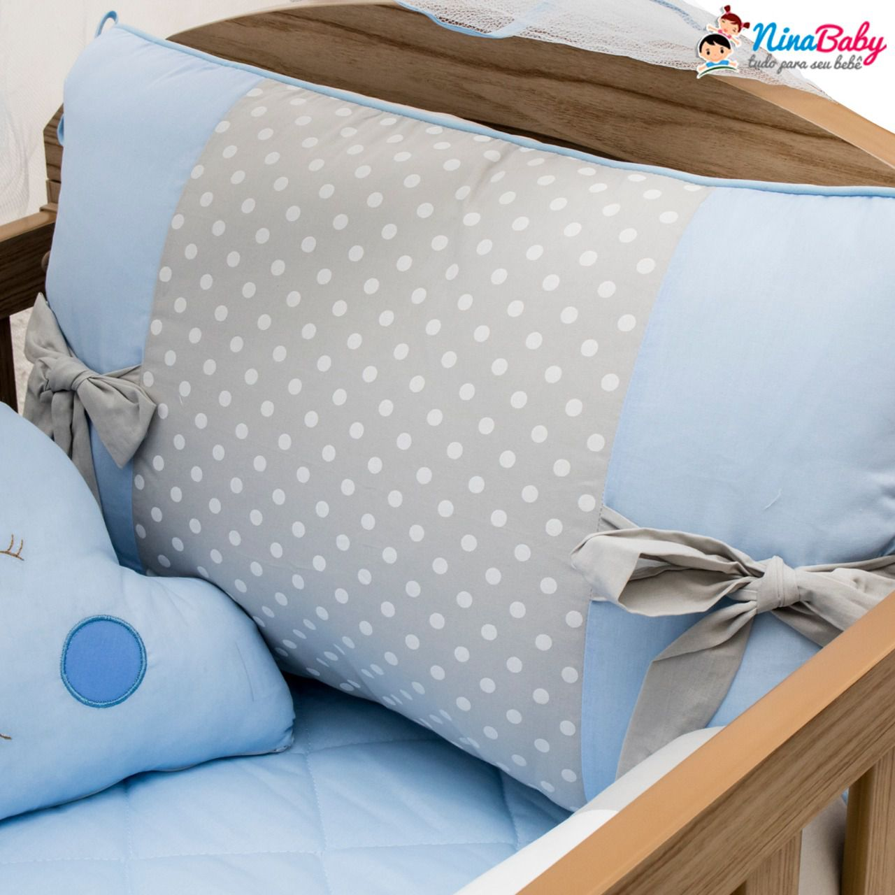 Kit Berço Docinho Azul Bebê