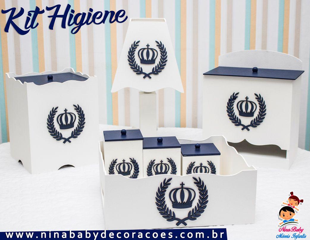 Kit de Higiene Coroa - Azul Marinho