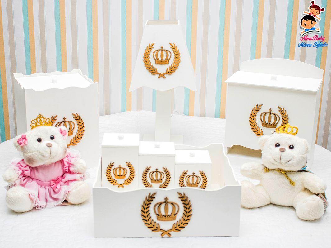 Kit de Higiene Coroa - Dourado