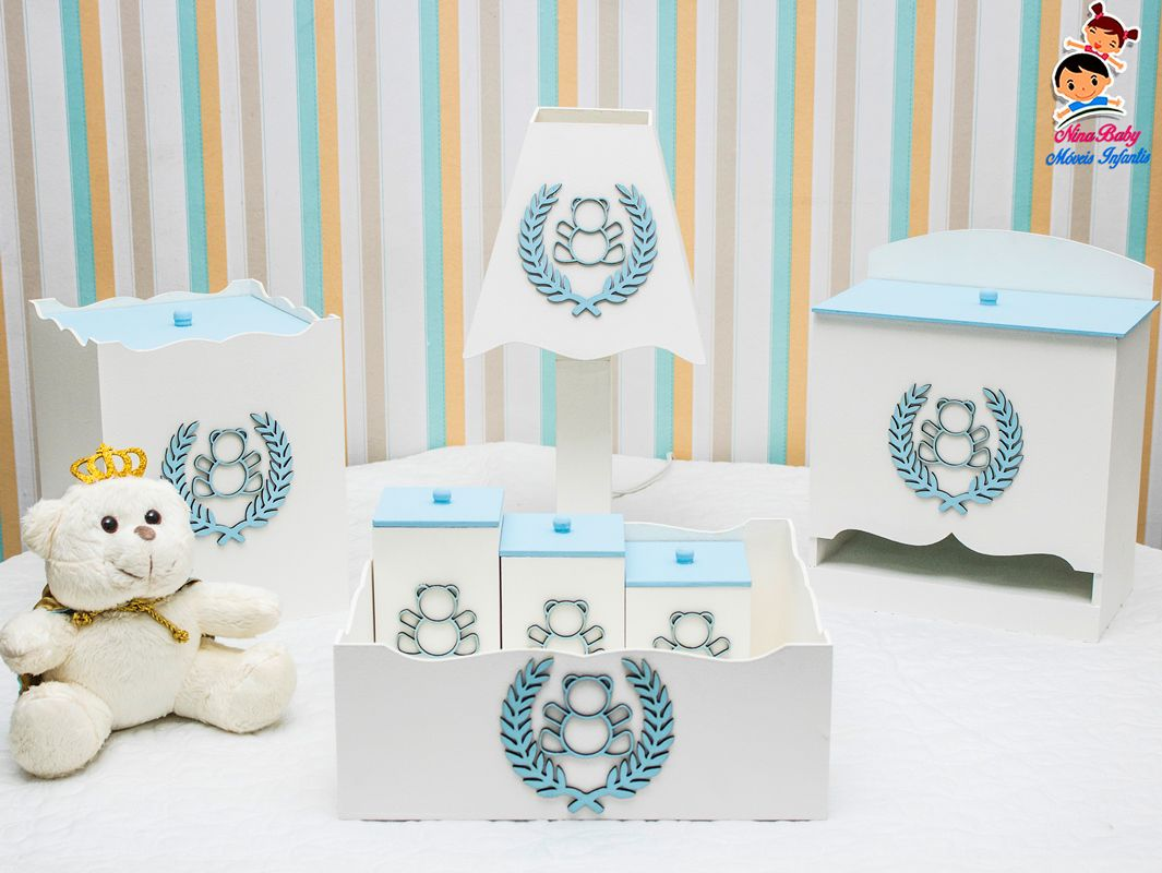 Kit de Higiene Urso - Azul Bebe