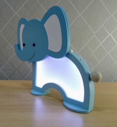 Luminária Elefante Azul