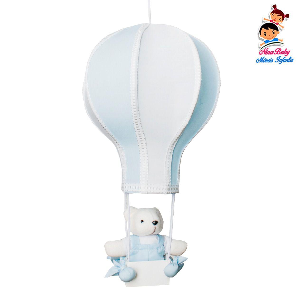 Luminária Lustre Balão Azul Bebê