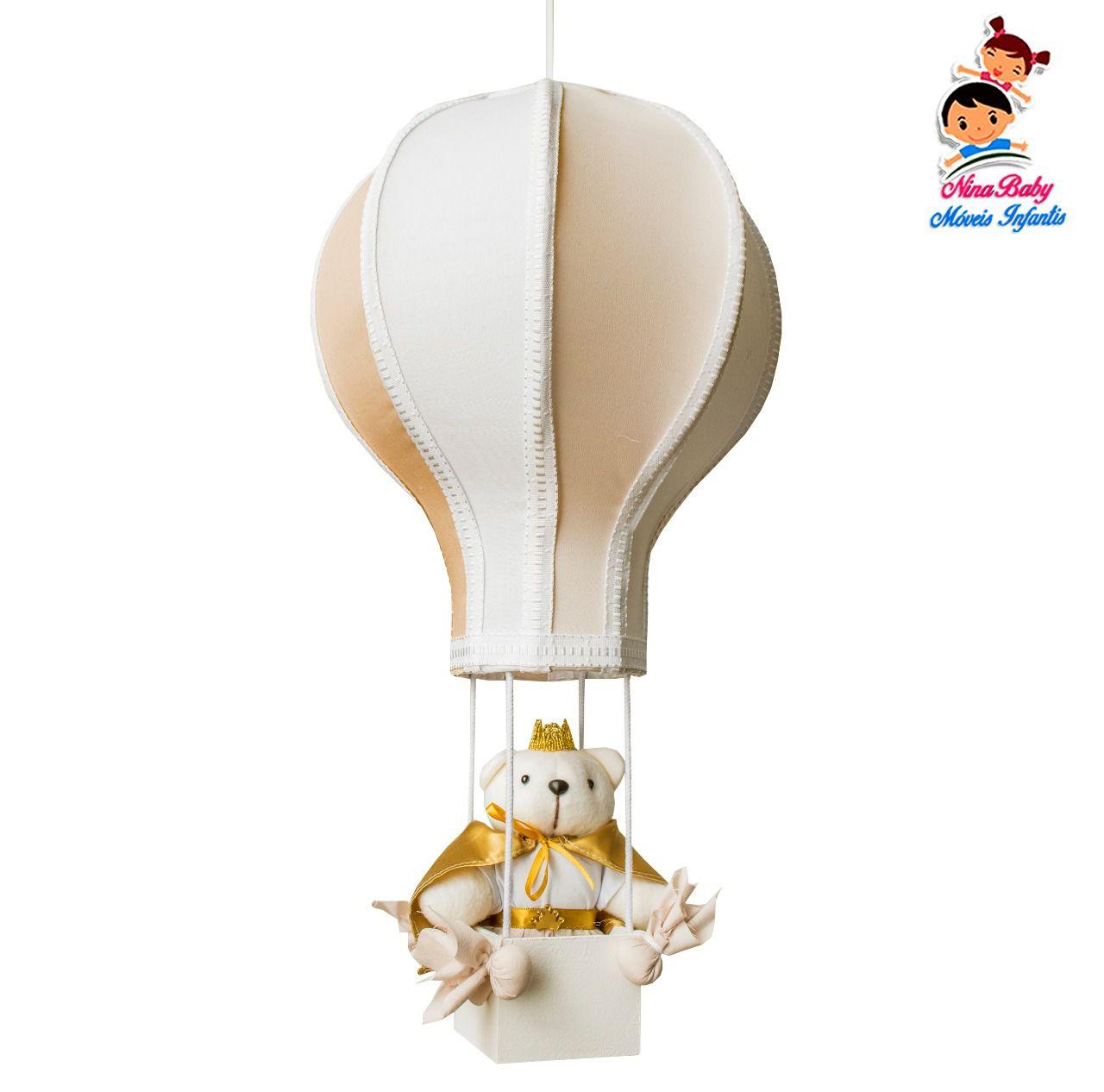 Luminária Lustre Balão Bege