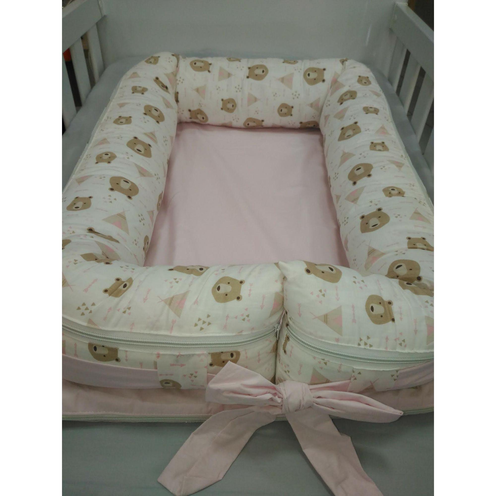 Ninho Redutor para Bebê Ursa Rosa