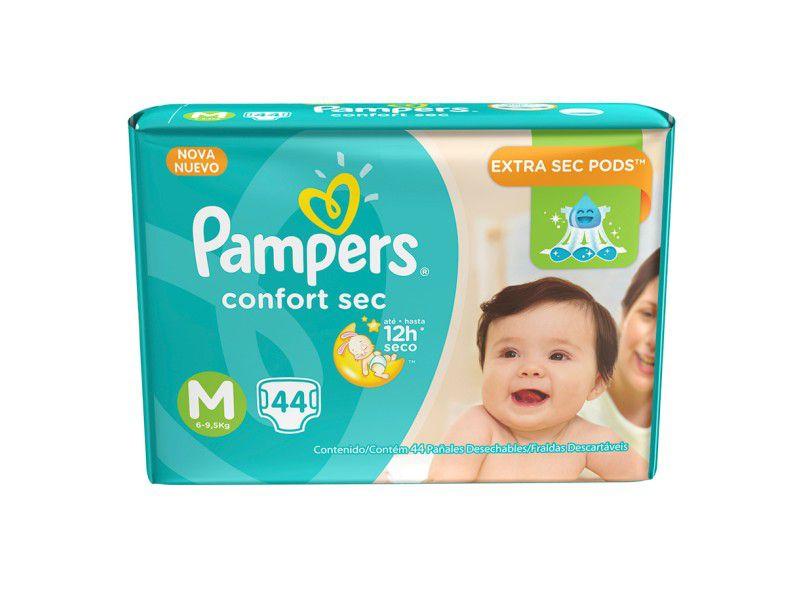 Pampers Confort Sec M - 44 Fraldas