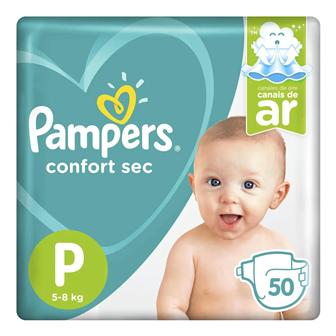 Pampers Confort Sec P - 50 Fraldas