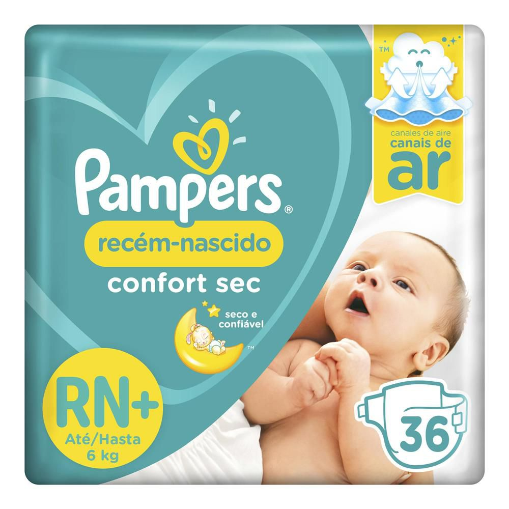 Pampers Confort Sec RN - 36 Fraldas