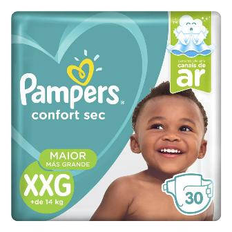 Pampers Confort Sec XXG - 30 Fraldas