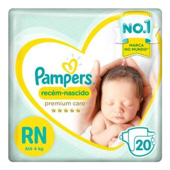 Pampers Premium Care RN - 20 Fraldas