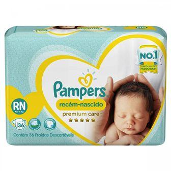 Pampers Premium Care RN - 36 Fraldas