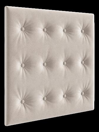 Quarto Completo Biel com Berço e Cama Maria - Branco com capitone Areia Peroba Móveis