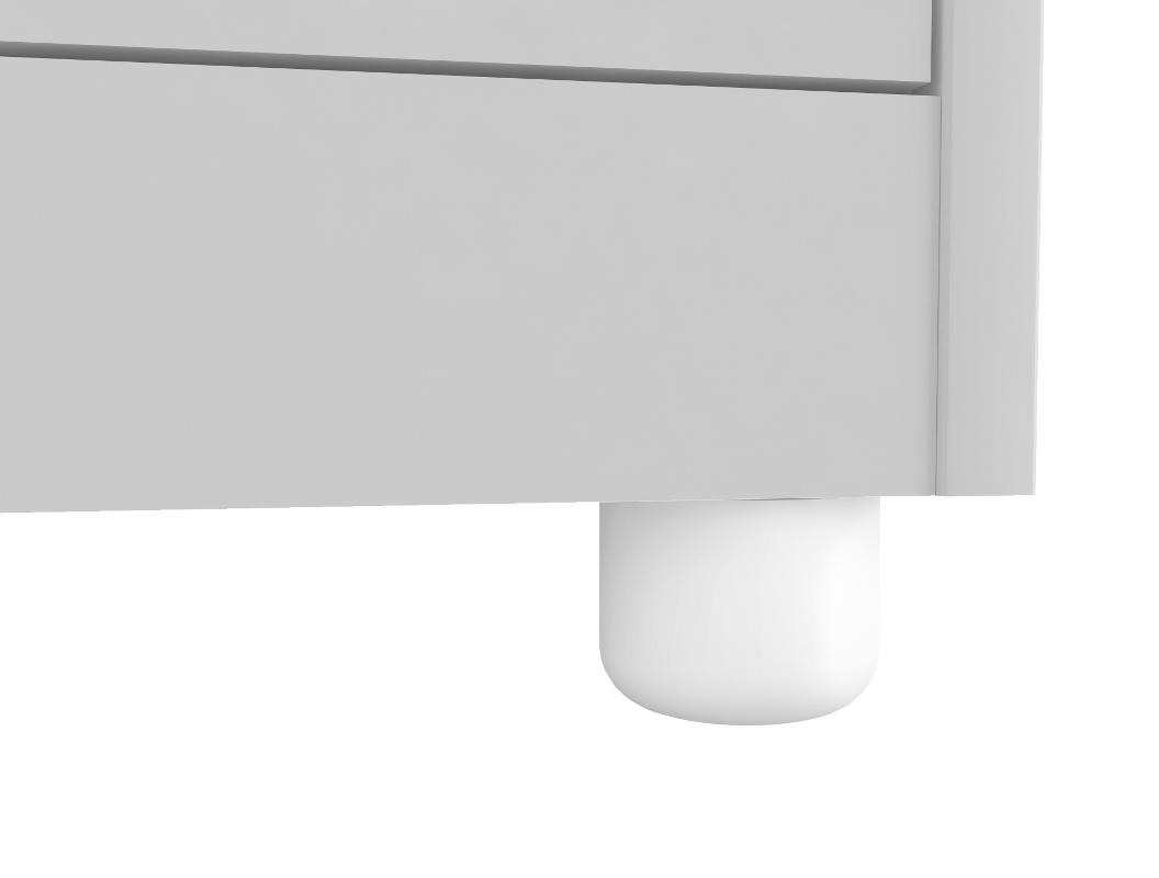 Quarto Completo Bolinha com Berço Smim - Branco Peroba Móveis