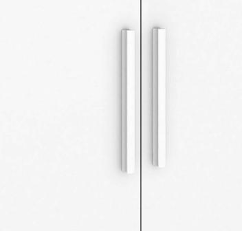 Quarto Completo Componente Dani com Cômoda e Berço Retrô porta Lisa - Branco Peroba Móveis
