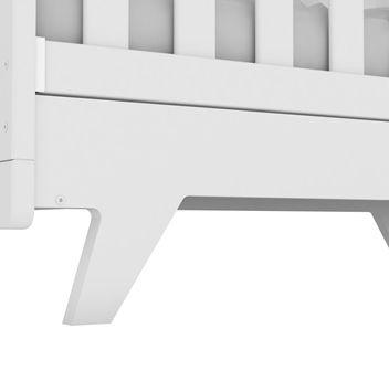 Quarto Completo Retrô porta Lisa Com Capitonê Bege - Branco Peroba Móveis