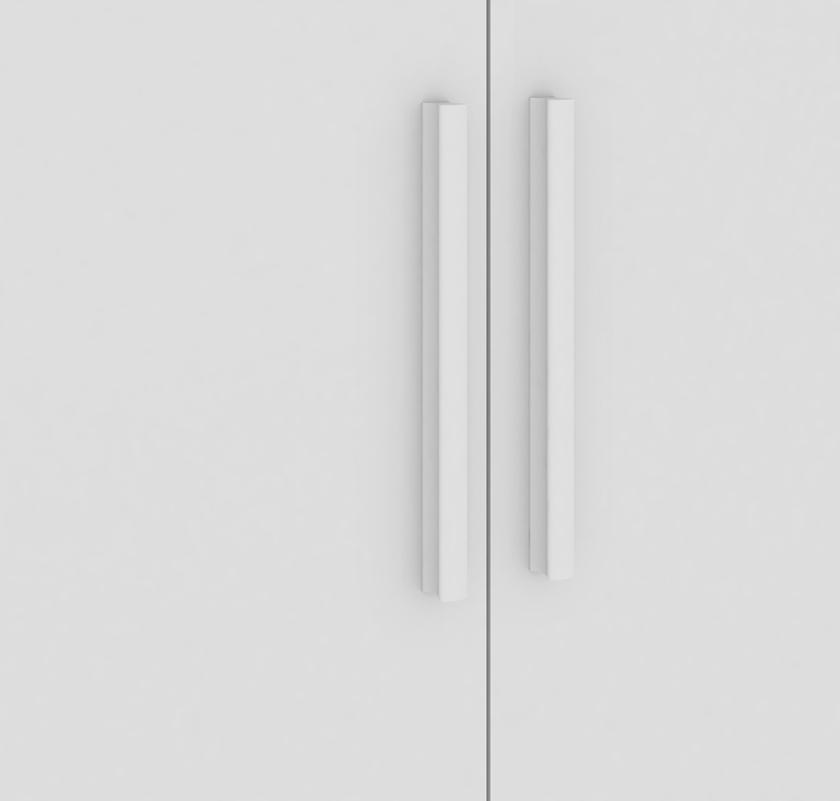 Quarto Completo Retrô porta Lisa e Berço Junior - Branco Peroba Móveis