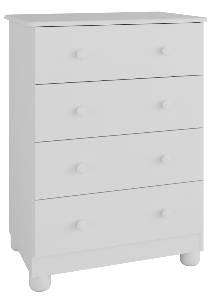 Quarto Completo Smim Jr com Mini Berço  - Branco Peroba Móveis