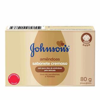 Sabonete Johnsons em Barra - Amêndoas - 80gr