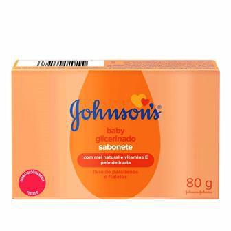 Sabonete Johnsons em Barra - Glicerinado - 80gr