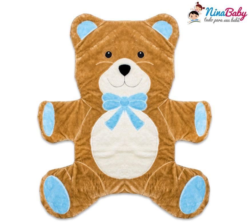 Tapete Urso Azul Bebe