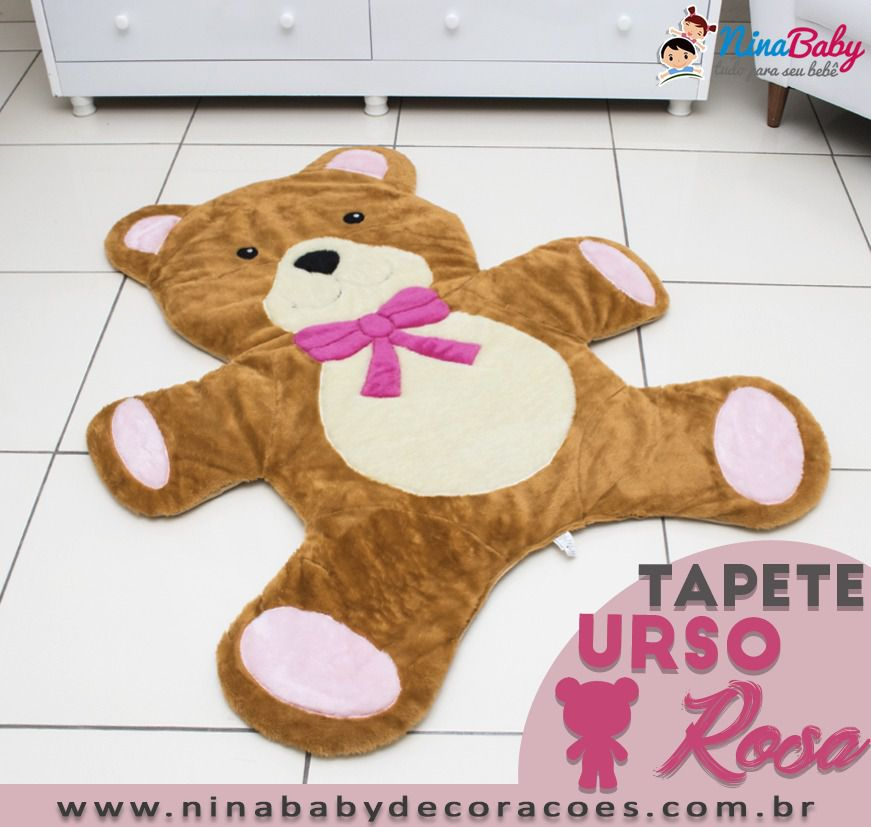 Tapete Urso Rosa