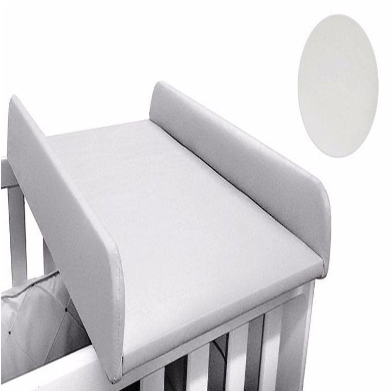 Trocador De Berço Acolchoado Para Berço Corino Branco - Nina Baby