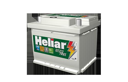 BATERIA HELIAR SUPER FREE 52 AMPERES (HF52GD) | Á base de troca