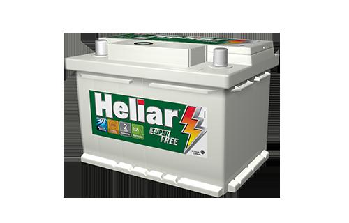 BATERIA HELIAR SUPER FREE 60 AMPERES (HF60HD) |À base de troca
